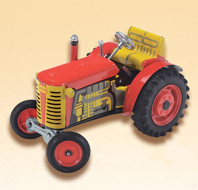 plechové modely - Traktor-ZETOR červený