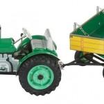 plechové modely - Traktor-ZETOR s valnikem