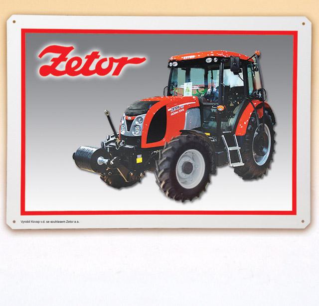 plechová tabule - Traktor Zetor